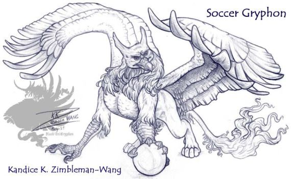 Soccer Gryphon 2 of 3 Comision by BlackUniGryphon