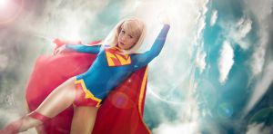 Super Girl New 52 cosplay Banner by clefchan