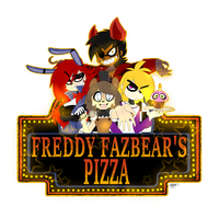Five Friends at Freddy's by ToxicSoul77