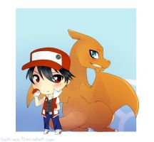 Pokemon- Red and Charizard by Toukoni
