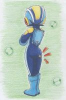 rockman exe from the back by ick25