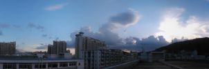 The blue sky and white clouds by blcf