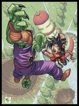 Goku Vs. Piccolo by MarcelPerez