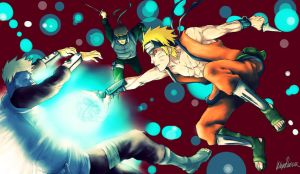 fighting naruto by MariaKlepikova