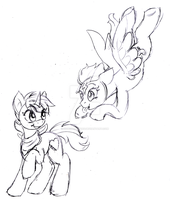 Sketch request: Nyah, Nyah can't catch me! by Honeycrisp1012