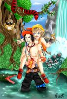 Jungle~Portgas D. Ace and Komeki by yuki-sama-kawaii