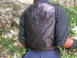 Back Elven Armour detail by Bear-Crafter