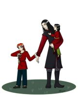 Feanor with sons by Morgaer