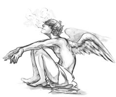 angel smokes by HydroENKI