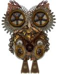 Steampunk Owl by Ally-bally-bumblebee