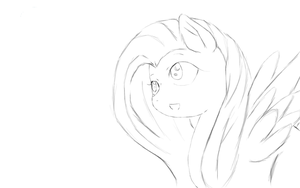 Flutter Shy sketch by ShyMemories
