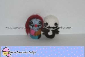 Jack and Sally Amigurumi by sakura-sweetcake