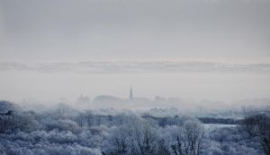View of Kilrea on a frosty day by younghappy