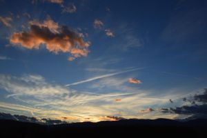 Natural fall sunset in Massif Central to France by A1Z2E3R