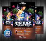 4Th July Summer Night Flyer Template by Grandelelo
