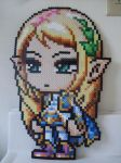 MapleStory: Perler Bead Mercedes by heatbish