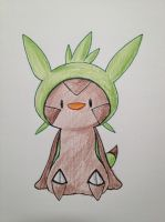 Chespin by Teirra-Misaki