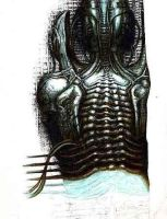 Apologies To HR Giger by magnetic-eye