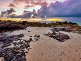 Low tide sunset 3 by peterpateman
