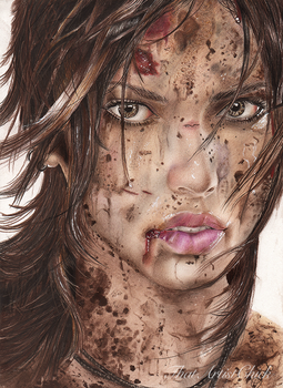 Lara Croft - Tomb Raider Drawing by KirstenLouiseArt