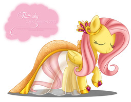 Gala Fashion 2012 - Fluttershy by selinmarsou