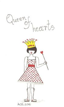 Queen of hearts by violet-evellyn