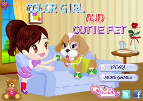 Color Girl and Cute Pet - Dressup24h by willbeyou