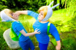 Fionna and Finn cosplay by Shipou-Negiru