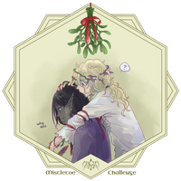Mistletoe Challenge: Cass + Iollan by number11train