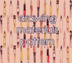 Drawing materials pattern by UnlovedClown