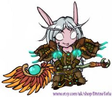 WoW Chibi : Night Elf Druid by DivineTofu