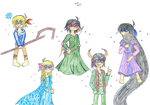 The guys as the big four ft Elsa by Nicktoons4ever