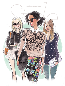 Fashion Bloggers by babsdraws
