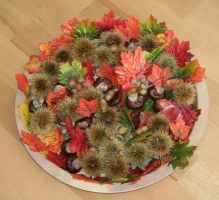 autumn decoration for table by ingeline-art