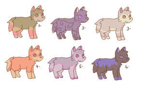 Adoptable Pups by starfire-wolf