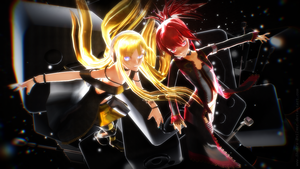 -MMD- black-red-yellow by Shebra-Evilver