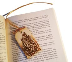 Wooden bookmark Celtic Wolf by ChibiPyro