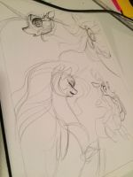 MLP Comic page rough layout by Aspendragon