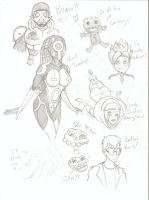 Viral 2.0 (and others) Sketchdump Imbound by Faybos