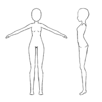 base female body reference sheet by jugapugz
