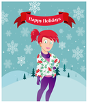 Holiday card - Frankie by Atrixfromice