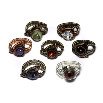 7 Steampunk Rings by CatherinetteRings