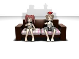 My first 3D character by nekoyasha89