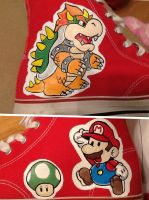 Mario and Bowser shoe by Wilson250380