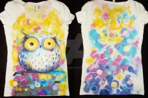 owl and bubbles by bemain