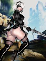 2B from Nier Automata  by TattooedLady95