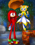 Lilly and Knuckles- CMSN by HezuNeutral