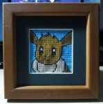 Eevee Portrait Cross Stitch by cadillacphunque