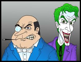 Penguin and Joker by Lordwormm