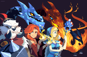 Dota 2: Ice and Fire by Karzahnii